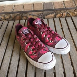 Converse All Stars Pink & Mauve Graphic Sneakers
